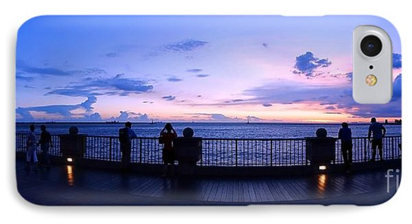 IPhone Case featuring the photograph Enjoying The Beautiful Evening Sky by Yali Shi