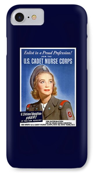 Enlist In A Proud Profession - Join The Us Cadet Nurse Corps IPhone Case