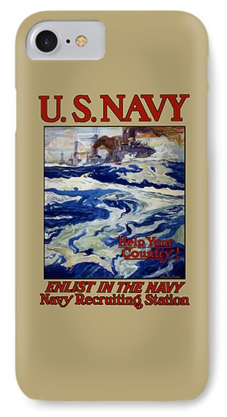 Enlist In The Navy - Help Your Country IPhone Case by War Is Hell Store