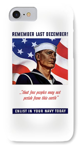 Enlist In Your Navy Today - Ww2 IPhone Case