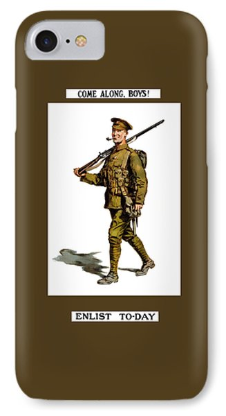 Enlist To-day - World War 1 IPhone Case by War Is Hell Store