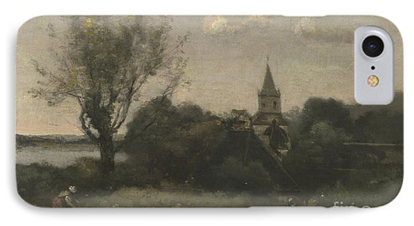 Ennery Near Auvers IPhone Case by Jean Baptiste Camille Corot