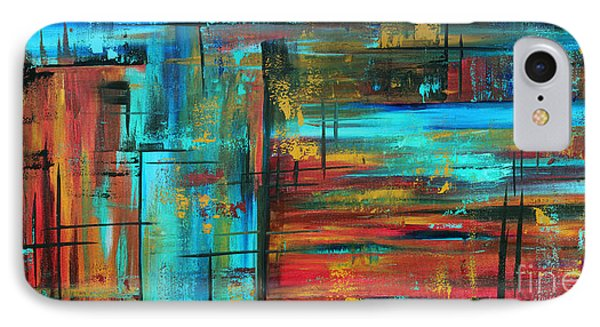 Enormous 3x5 Abstract Art Huge Original Contemporary Painting Into Autumn By Madart Phone Case by Megan Duncanson