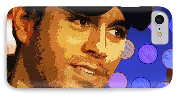 Enrique Iglesias IPhone Case by John Keaton