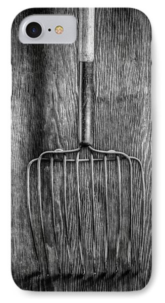 Ensilage Fork Down IPhone Case by YoPedro