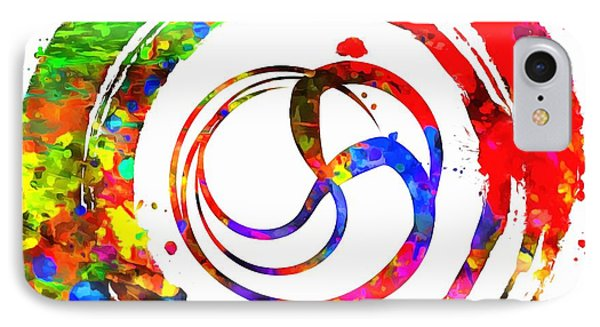 Enso Colorful Paint Circle IPhone Case