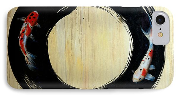 Enso With Koi IPhone Case by Sandi Baker