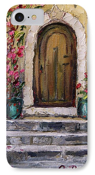 IPhone Case featuring the painting Enter Here by Jennifer Beaudet