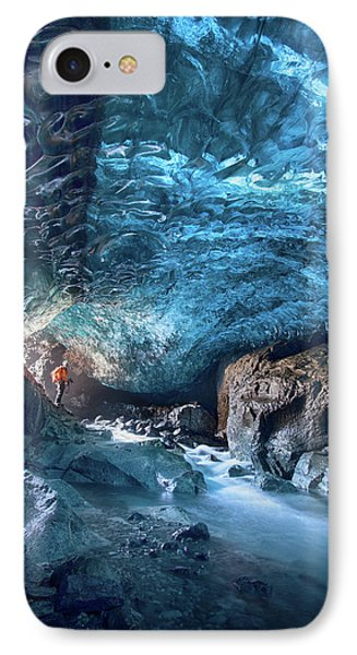 Entering The Ice Cave IPhone Case by Peter Svoboda