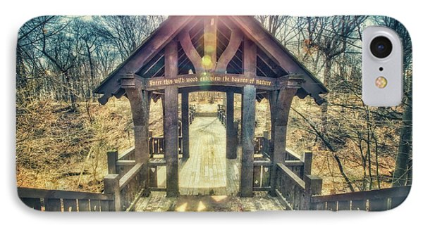 Entrance To 7 Bridges - Grant Park - South Milwaukee  IPhone Case by Jennifer Rondinelli Reilly - Fine Art Photography