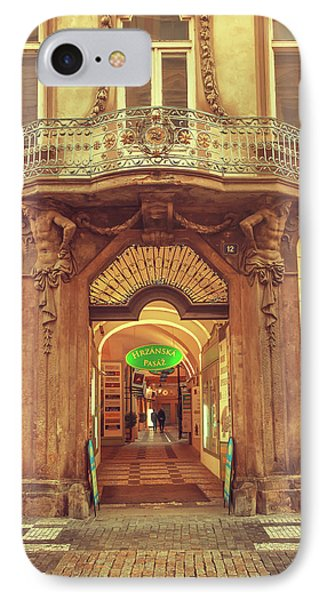IPhone Case featuring the photograph Entrance To Passage. Series Golden Prague by Jenny Rainbow