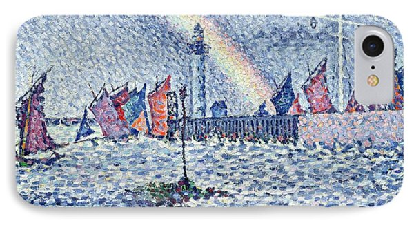 Entrance To The Port Of Honfleur Phone Case by Paul Signac