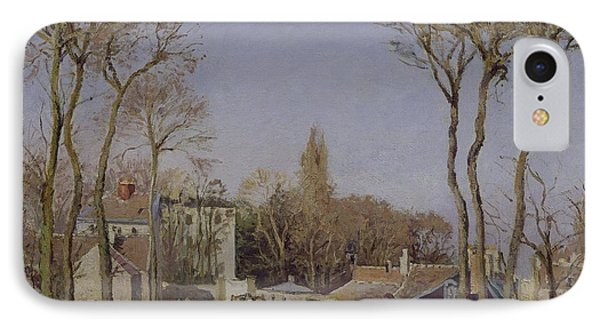 Entrance To The Village Of Voisins Phone Case by Camille Pissarro