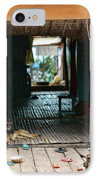 Entrance To Tonle Sap Home  IPhone Case by Chuck Kuhn