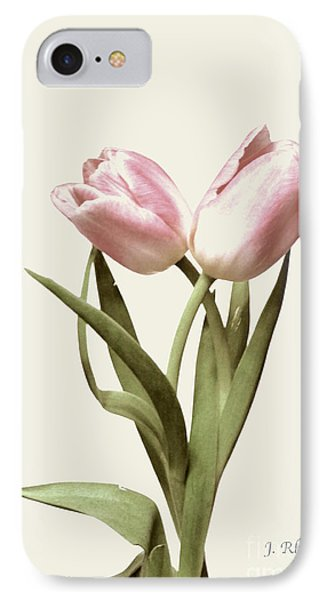Entwined Tulips IPhone Case by Jeannie Rhode