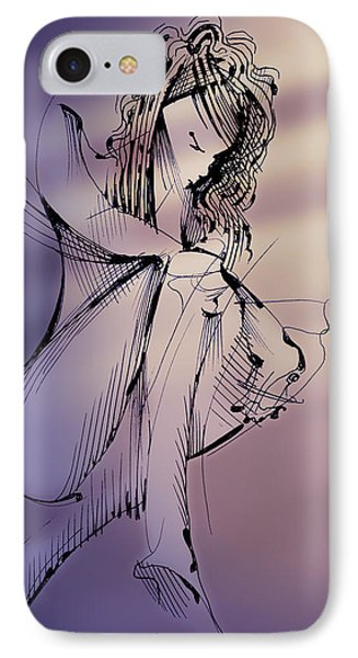 IPhone Case featuring the drawing Envisage by Keith A Link
