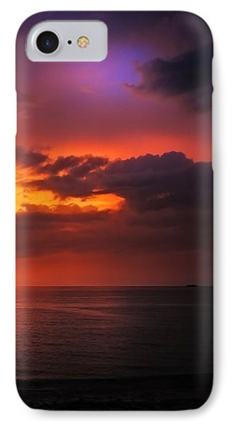Epic End Of The Day At Equator Phone Case by Jenny Rainbow