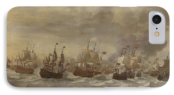 Episode From The Four Days' Naval Battle Of June 1666 IPhone Case