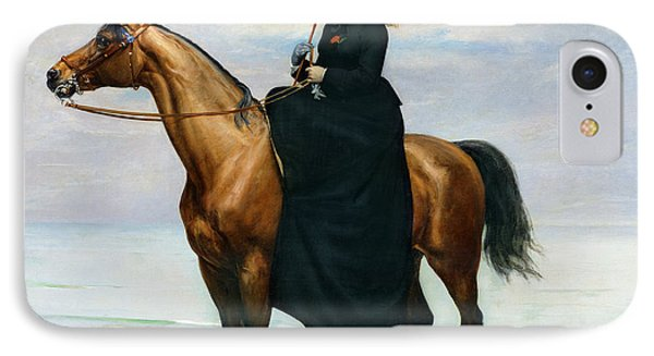 Equestrian Portrait Of Mademoiselle Croizette IPhone Case by Charles Emile Auguste Carolus Duran