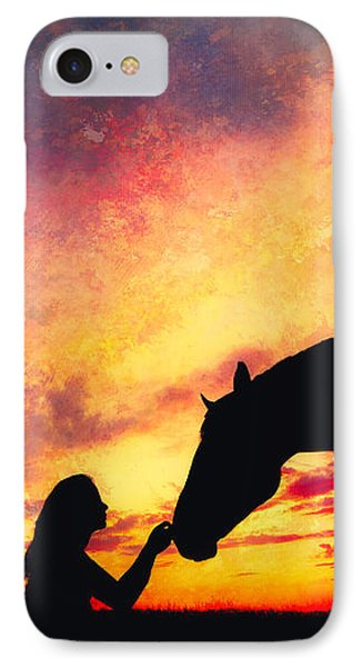 Equine Sunset IPhone Case by Debi Bishop