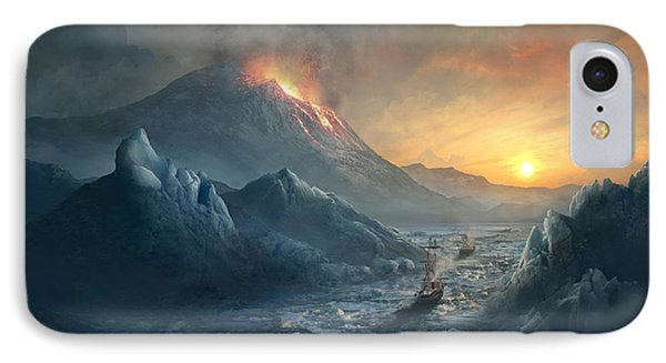 Erebus Mount IPhone Case by Guillem H Pongiluppi