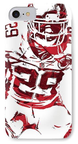 IPhone Case featuring the mixed media Eric Berry Kansas City Chiefs Pixel Art 2 by Joe Hamilton