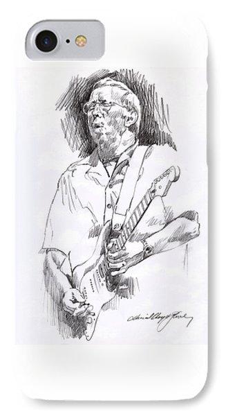 Eric Clapton Blue IPhone 7 Case by David Lloyd Glover
