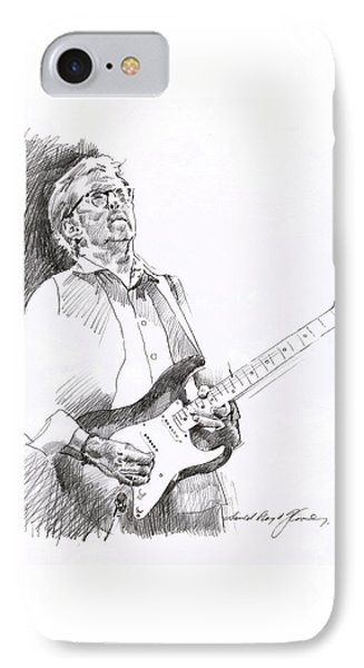 Eric Clapton Joy IPhone 7 Case by David Lloyd Glover