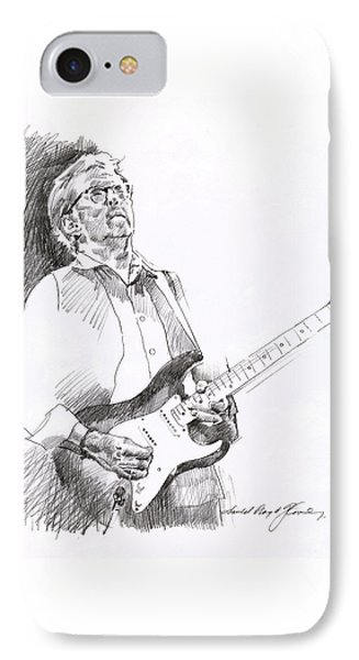 Eric Clapton Joy IPhone Case by David Lloyd Glover