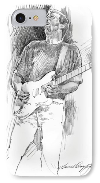 Eric Clapton Strat IPhone 7 Case by David Lloyd Glover