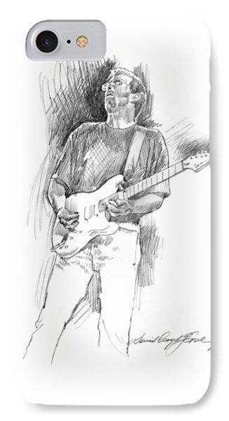 Eric Clapton Strat IPhone 7 Case by David Lloyd Glover