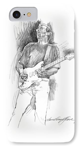 Eric Clapton Strat IPhone Case by David Lloyd Glover