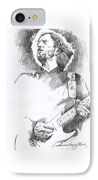 Eric Clapton Sustains IPhone Case by David Lloyd Glover