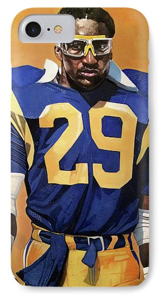 Eric Dickerson Los Angeles Rams IPhone Case by Michael  Pattison