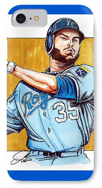 Eric Hosmer Of The Kansas City Royals IPhone Case by Dave Olsen