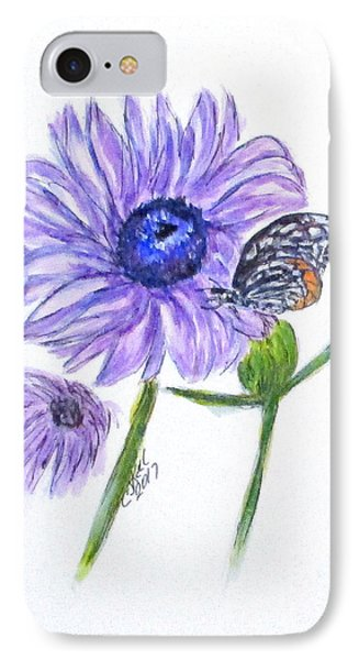 Erika's Butterfly Three IPhone Case by Clyde J Kell