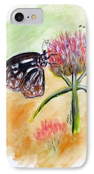 Erika's Butterfly Two IPhone Case by Clyde J Kell