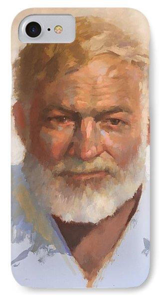 Ernest Hemingway Phone Case by Mike Hanlon