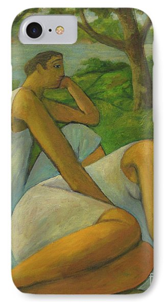 IPhone Case featuring the painting Eros And Rhea by Glenn Quist