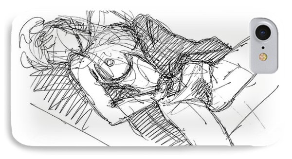 IPhone Case featuring the drawing Erotic Art Drawings 7 by Gordon Punt