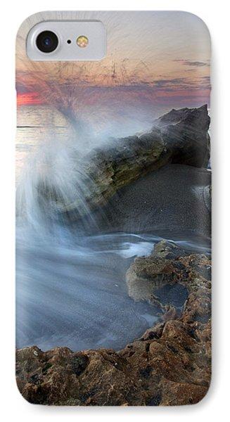 Eruption At Dawn Phone Case by Mike  Dawson