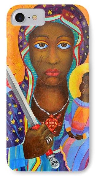 Erzulie Dantor Haitian Voodoo Loa, Petro Lwa, Black Virgin, Black Madonna. New Orleans Voodoo Queen. IPhone Case