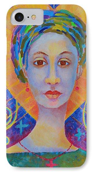 Erzulie Freda Painting. Ezili Freda Portrait Made In Poland By Polish Artist Magdalena Walulik IPhone Case