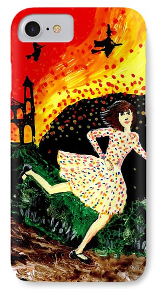 Escape From The Burning House Phone Case by Sushila Burgess