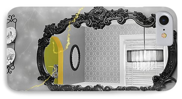 Escape From The Yellow Room IPhone Case by Debra Baldwin