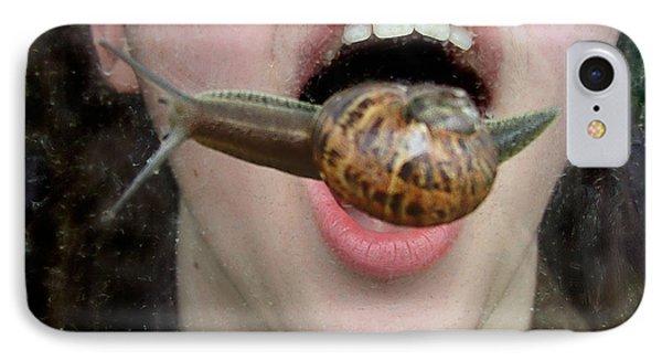 Escargot Anyone IPhone Case by Wendy McKennon