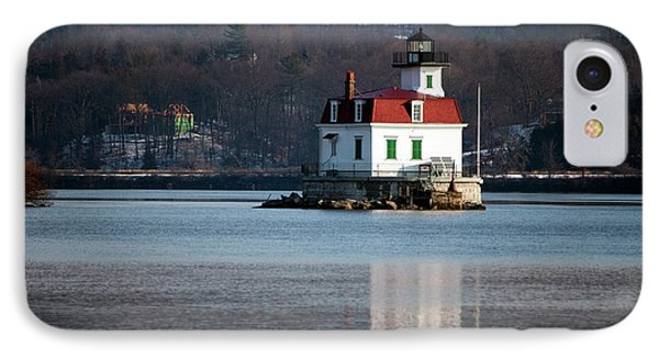Esopus Lighthouse In December Phone Case by Jeff Severson
