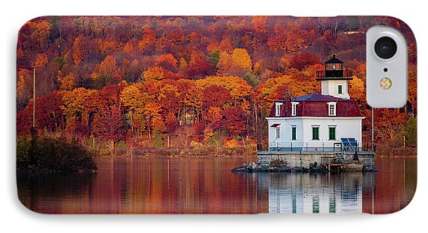 IPhone Case featuring the photograph Esopus Lighthouse In Late Fall #1 by Jeff Severson