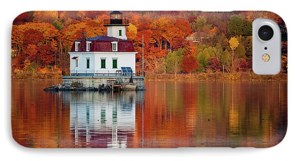 IPhone Case featuring the photograph Esopus Lighthouse In Late Fall #2 by Jeff Severson