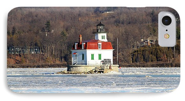 IPhone Case featuring the photograph Esopus Lighthouse In Winter #2 by Jeff Severson